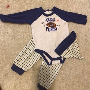 Baby essentials Sunday funday matching set 9 month